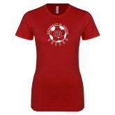Next Level Ladies SoftStyle Junior Fitted Cardinal Tee-DU Soccer