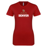 Next Level Ladies SoftStyle Junior Fitted Cardinal Tee-Denver Soccer
