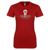 Next Level Ladies SoftStyle Junior Fitted Cardinal Tee-DU Lacrosse