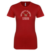 Next Level Ladies SoftStyle Junior Fitted Cardinal Tee-Pioneers Lacrosse