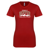 Next Level Ladies SoftStyle Junior Fitted Cardinal Tee-Lacrosse Capital