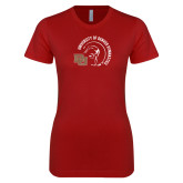 Next Level Ladies SoftStyle Junior Fitted Cardinal Tee-DU Gymnastics