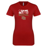 Next Level Ladies SoftStyle Junior Fitted Cardinal Tee-Game Set Match