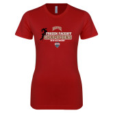 Next Level Ladies SoftStyle Junior Fitted Cardinal Tee-NCHC 2018 Ice Hockey Champions