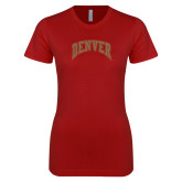 Next Level Ladies SoftStyle Junior Fitted Cardinal Tee-Primary 1 Color