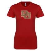 Next Level Ladies SoftStyle Junior Fitted Cardinal Tee-DU
