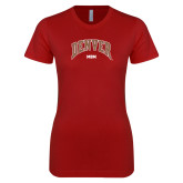 Next Level Ladies SoftStyle Junior Fitted Cardinal Tee-Denver Mom