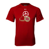 Under Armour Cardinal Tech Tee-Peace, Love, and Volleyball