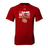 Under Armour Cardinal Tech Tee-Tennis Game Set Match