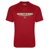 Under Armour Cardinal Tech Tee-University of Denver Pioneers Bar Stacked