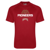 Under Armour Cardinal Tech Tee-Pioneers Volleyball Geometric Half Ball