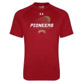 Under Armour Cardinal Tech Tee-Pioneers Lacrosse Denver