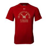 Under Armour Cardinal Tech Tee-Arched University of Denver Lacrosse