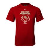 Under Armour Cardinal Tech Tee-Basketball Stacked