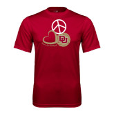 Syntrel Performance Cardinal Tee-Peace, Love, and Volleyball