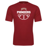 Syntrel Performance Cardinal Tee-Pioneers Basketball Half Ball