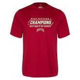 Performance Cardinal Tee-2017 NCAA Division I Mens Hockey Champions