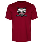 Performance Cardinal Tee-2017 Mens NCAA Hockey National Champions