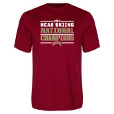 Performance Cardinal Tee-2018 NCAA Skiing National Champions