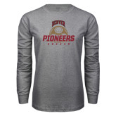 Grey Long Sleeve T Shirt-Pioneers Soccer Half Ball