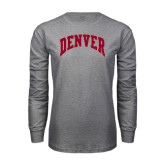 Grey Long Sleeve TShirt-Arched Denver 2 Color Version