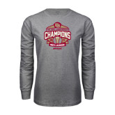 Grey Long Sleeve T Shirt-2015 Big East Mens Lacrosse
