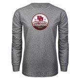 Grey Long Sleeve T Shirt-2015 National Champions