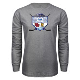Grey Long Sleeve T Shirt-Battle On Blake