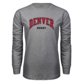 Grey Long Sleeve T Shirt-Rugby