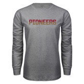 Grey Long Sleeve T Shirt-Pioneers Two Tone