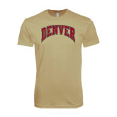 Next Level SoftStyle Khaki T Shirt-Arched Denver
