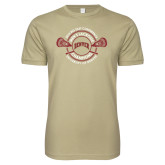 Next Level SoftStyle Khaki T Shirt-2018 Big East Mens Lacrosse Championship