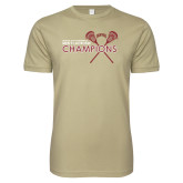 Next Level SoftStyle Khaki T Shirt-2018 Mens Lacrosse Championship