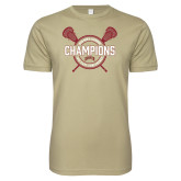 Next Level SoftStyle Khaki T Shirt-2018 Lacrosse Championship