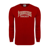 Cardinal Long Sleeve T Shirt-JR Pioneers Hockey