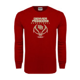 Cardinal Long Sleeve T Shirt-Basketball Stacked