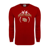 Cardinal Long Sleeve T Shirt-Basketball in Ball