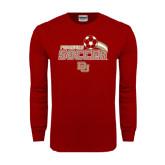 Cardinal Long Sleeve T Shirt-Soccer Swoosh