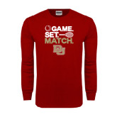 Cardinal Long Sleeve T Shirt-Tennis Game Set Match
