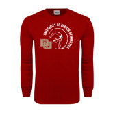 Cardinal Long Sleeve T Shirt-Denver Gymnastics Circle Design