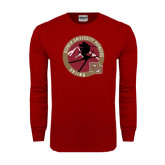 Cardinal Long Sleeve T Shirt-Skier Jumping Ski Design