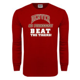 Cardinal Long Sleeve T Shirt-Beat The Tigers