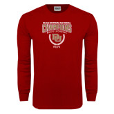 Cardinal Long Sleeve T Shirt-NCAA Division I Lacrosse Champs