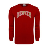 Cardinal Long Sleeve T Shirt-Arched Denver