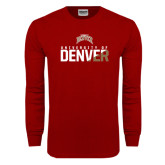 Cardinal Long Sleeve T Shirt-Stacked University of Denver - Two Tone