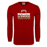 Cardinal Long Sleeve T Shirt-Pioneer Nation