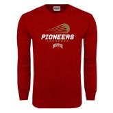 Cardinal Long Sleeve T Shirt-Pioneers Lacrosse Modern
