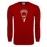 Cardinal Long Sleeve T Shirt-Denver LAX Geometric Stick