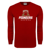 Cardinal Long Sleeve T Shirt-Pioneers Soccer Half Ball