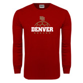 Cardinal Long Sleeve T Shirt-Denver Soccer Half Ball